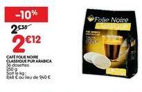 Café noir offre à 2,12€