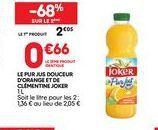 Jus d'orange Joker offre à 0,66€