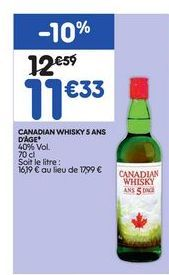 Whisky offre à 11,33€