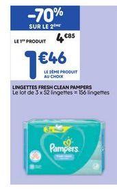 Lingettes offre à 1,46€