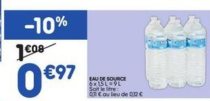 Eau offre à 0,97€