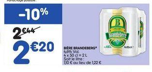 Bière Brandeberg offre à 2,2€