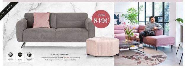 Canapé offre à 849€
