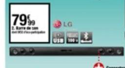 Barre de son LG offre à 79,99€
