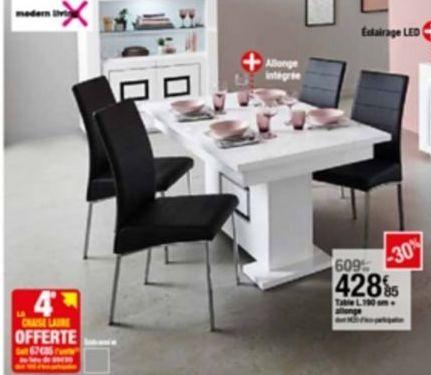 Table offre à 428,85€