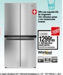 Réfrigérateur Whirlpool offre à 1299,99€