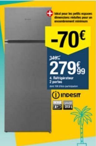 Réfrigérateur offre à 279,99€