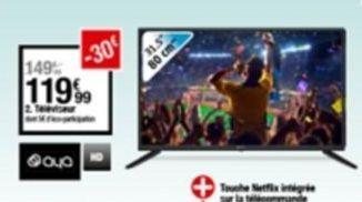 Téléviseur offre à 119,99€