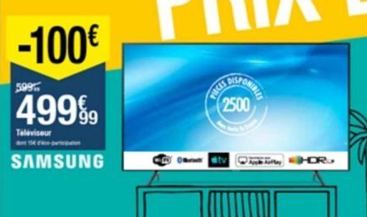 Téléviseur Samsung offre à 499,99€