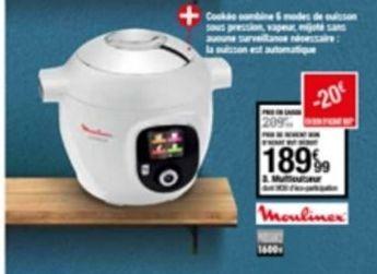 Cuiseur à vapeur Moulinex offre à 189,99€