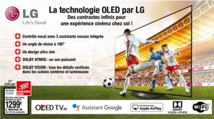 Téléviseur LG offre à 1299€