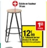 Tabouret offre à 12,99€