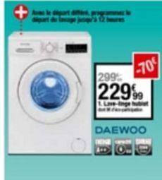 Lave-vaisselle Daewoo offre à 229,99€