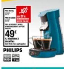 Machine à café automatique Philips offre à 49€