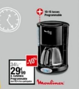 Machine à café automatique Moulinex offre à 29,99€
