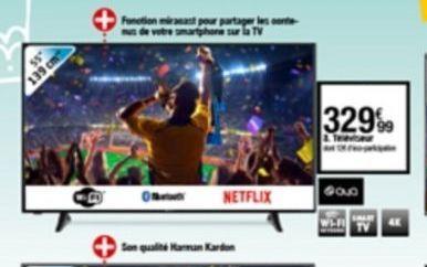 Téléviseur offre à 329,99€