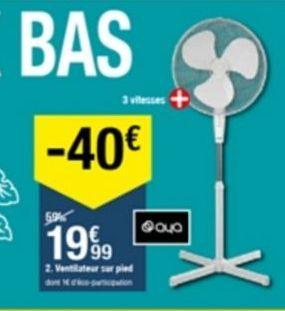 Ventilateur offre à 19,99€