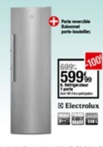 Réfrigérateur offre à 599,99€
