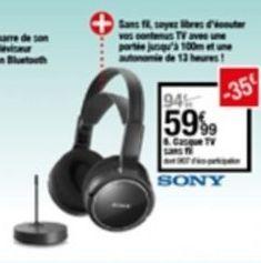 Écouteurs bluetooth offre à 59,99€