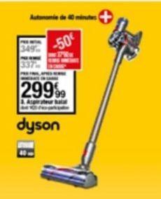 Aspirateur Dyson offre à 299,99€