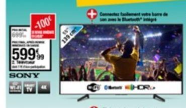 Téléviseur offre à 599,99€