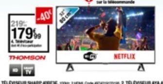 Téléviseur offre à 179,99€