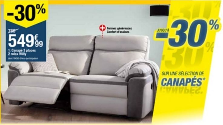 Canapé offre à 549,99€
