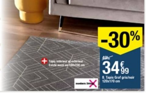 Tapis offre à 34,99€
