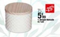 Bougies offre à 5,99€