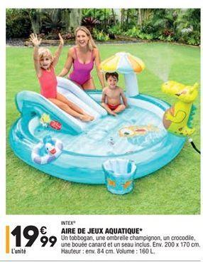Aire de jeux aquatique offre à 19,99€