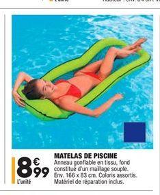 Matelas de piscine offre à 8,99€