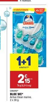 Bloc WC offre à 2,15€