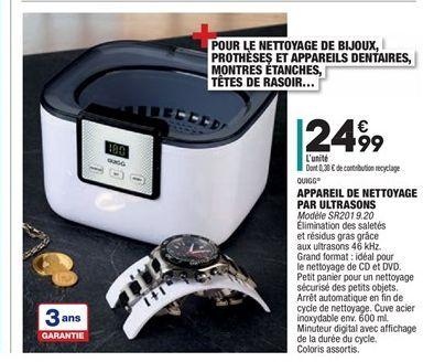 Appareil de nettoyage par ultrasons offre à 24,99€