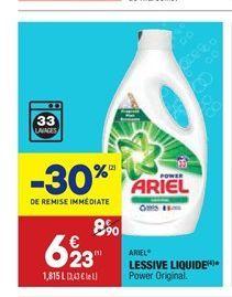 Lessive liquide Ariel offre à 6,23€