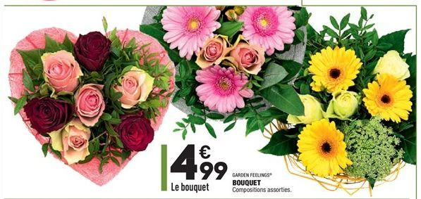 Bouquet de fleurs offre à 4,99€