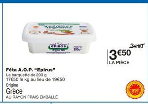 Fromage offre à 3,5€