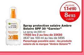Spray solaire Garnier offre à 8,93€