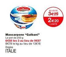 Mascarpone Galbani offre à 2,2€