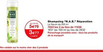 Shampoing offre à 3,77€