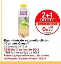 Eau minérale naturelle citron Contrex Green offre à 0,77€