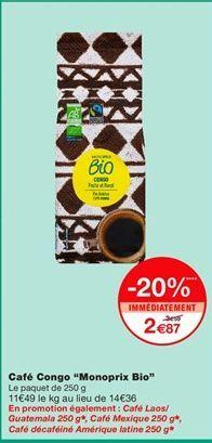 Café offre à 2,87€