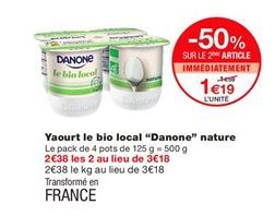 Yaourt Danone offre à 1,19€