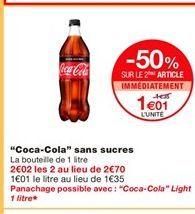 Coca-cola offre à 1,01€