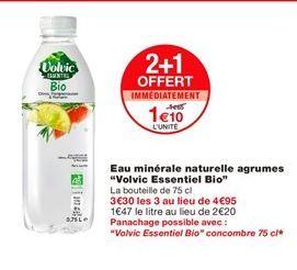 Eau Volvic offre à 1,1€