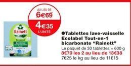 Lave-vaisselle Rainett offre à 4,35€