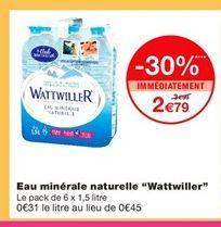 Eau minérale naturelle Wattwiller offre à 2,79€