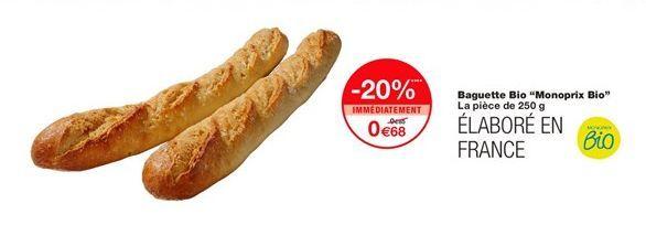 Baguettes offre à 0,68€