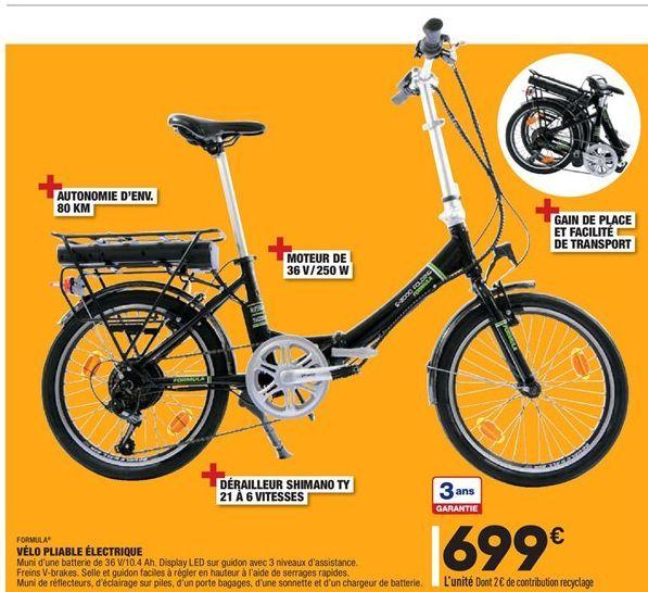 Vélo pliable électrique offre à 699€