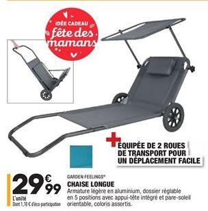 Chaise longue offre à 29,99€