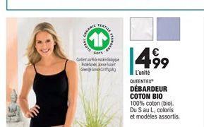 Débardeur coton BIO offre à 4,99€